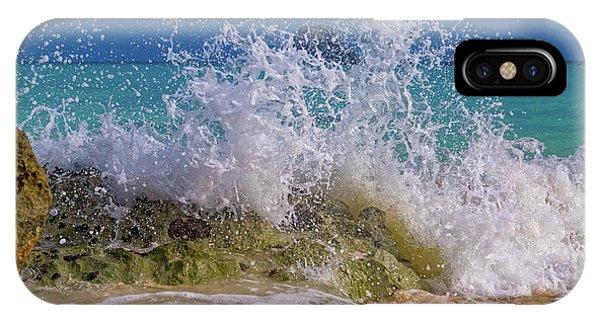 Carribbean iPhone Case - Ocean Wave Splash by Betsy Knapp