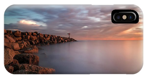 Long Exposure iPhone Case - Oceanside Jetty by Larry Marshall