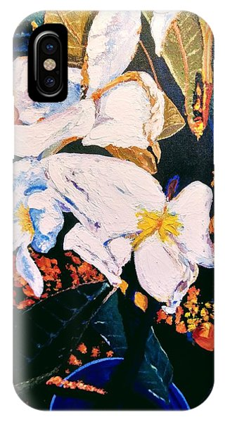 IPhone Case featuring the painting Odd Shape Flowers by Ray Khalife