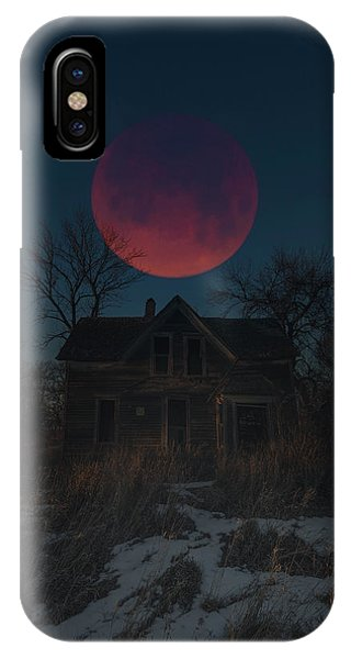 Super Moon iPhone Case - Of Wolf And Man  by Aaron J Groen