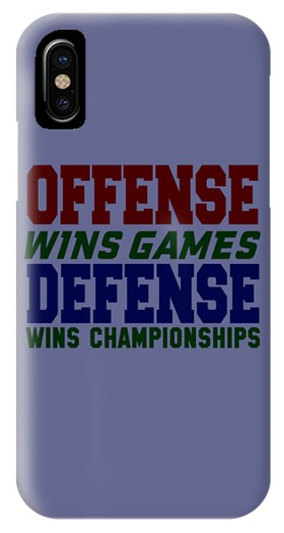 Offence Defense IPhone Case
