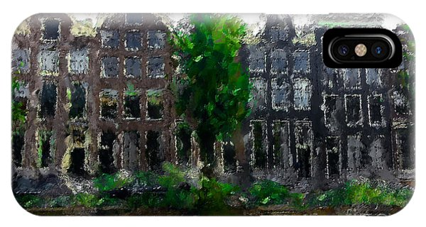 Modern iPhone Case - Oil Paint Effected Amsterdam Houses by Trentemoller