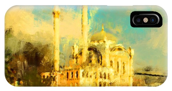 Culture iPhone Case - Oil Paint Istanbul View Bosphorus by Trentemoller