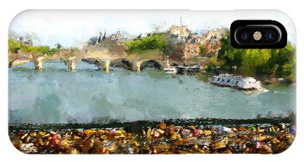 Modern iPhone Case - Oil Paint Paris Seine River by Trentemoller