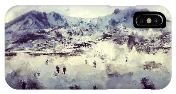 Modern iPhone Case - Oil Painting Snowy Mountains by Trentemoller