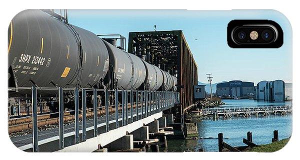 Oil Train Over Swinomish Channel IPhone Case