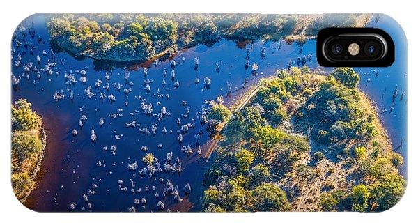 Delta iPhone Case - Okavango Delta Okavango Grassland Is by Vadim Petrakov