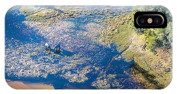Delta iPhone Case - Okavango Delta Or Okavango Grassland Is by Vadim Petrakov