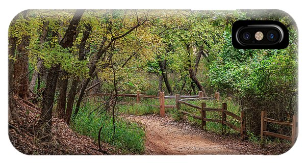 Oklahoma City's Martin Nature Park In Fall Color IPhone Case