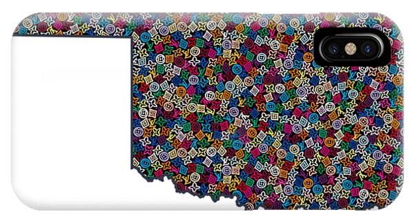 Ok iPhone Case - Oklahoma Map - 1 by Nikita