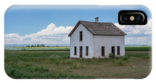 Old Abandoned House In Farming Area IPhone Case