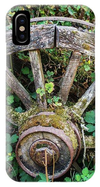 Wagon Wheel iPhone Case - Old Abandoned Wagon by Carlos Caetano