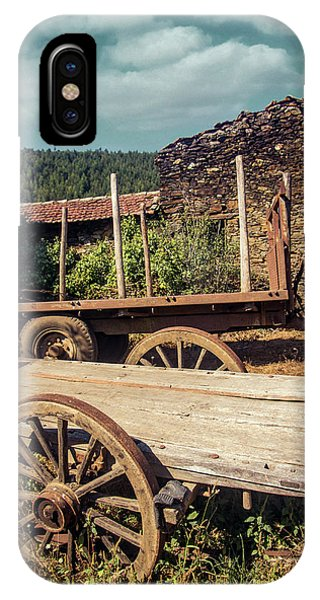 Wagon Wheel iPhone Case - Old Abandoned Wagons by Carlos Caetano