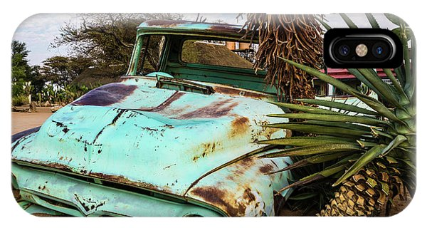 Old And Abandoned Car 2 In Solitaire, Namibia IPhone Case