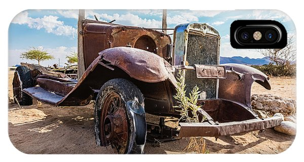 Old And Abandoned Car 3 In Solitaire, Namibia IPhone Case