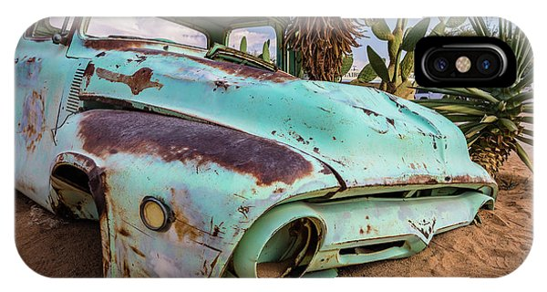 Old And Abandoned Car 7 In Solitaire, Namibia IPhone Case