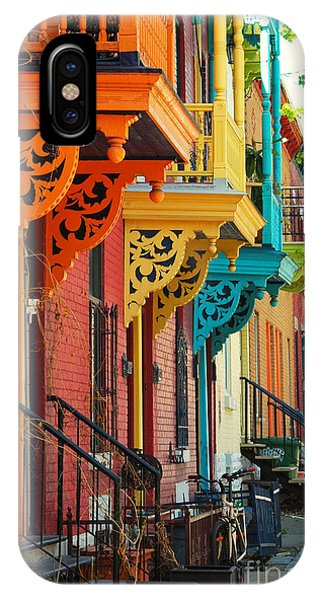 Old Building iPhone Case - Old Architecture In Montreal by Brian Burton Arsenault