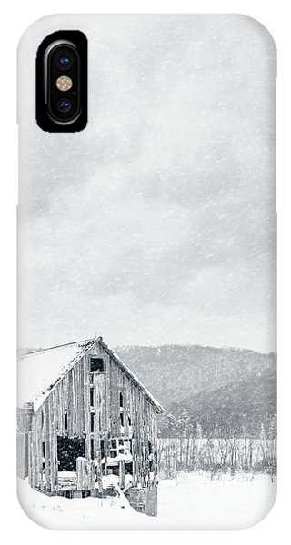 Etna iPhone Case - Old Barn Snowstorm by Edward Fielding