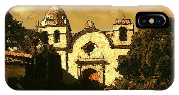 Old Carmel Mission - Watercolor Painting IPhone Case