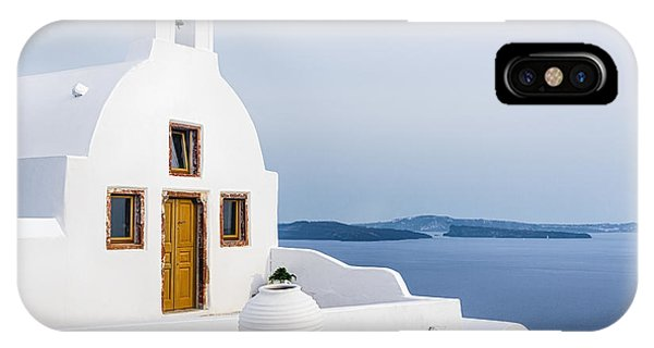 Christianity iPhone Case - Old Church In Santorini Island, Greece by Svetlana Ryajentseva