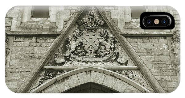 IPhone Case featuring the photograph Old Coat Of Arms On Plymouth Guildhall by Jacek Wojnarowski