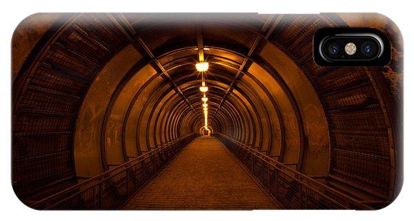 Gloomy iPhone Case - Old Dark Red Tunnel by Zholobov Vadim