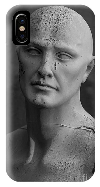 Old Decaying Mannequin, Shot On B&w Phone Case by Conrad Levac