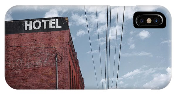 Design iPhone Case - Old Dilapidated Brick Motel With Cloudy by J.d.s