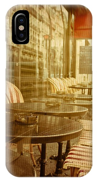 Cafe iPhone Case - Old-fashioned Coffee Terrace With by Ilolab