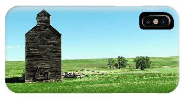 Middle Of Nowhere iPhone Case - Old Grain Silo Near Cartwright North Dakota by Jeff Swan