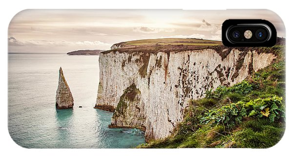 Celtics iPhone Case - Old Harry Rocks, Located At Handfast by Dafinka