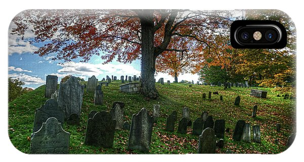 Old Hill Burying Ground In Autumn IPhone Case