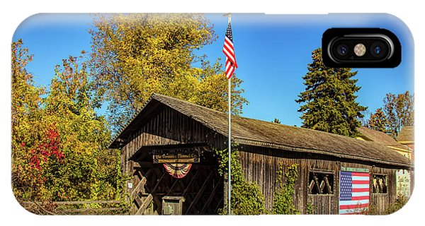 Old Hollow Covered Bridge IPhone Case