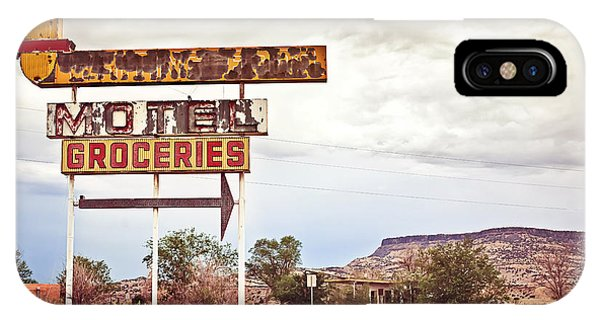 United States iPhone Case - Old Motel Sign On Route 66, Usa by Andrey Bayda