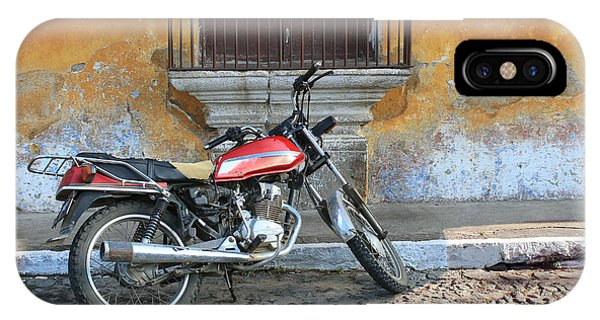 Iron iPhone Case - Old Motorcyle In Colonial Antigua by Charles Harker