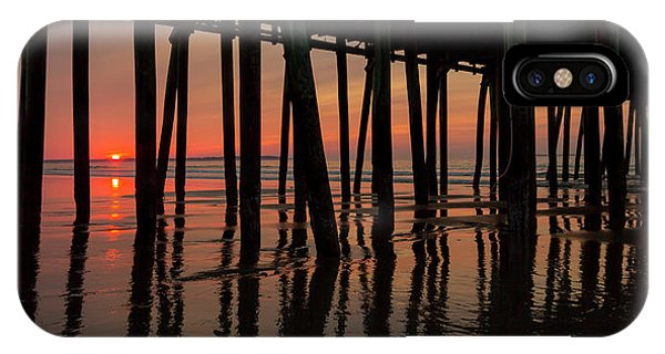 Orchard Beach iPhone Case - Old Orchard Beach Fishing Pier Welcome To The Day by Betsy Knapp