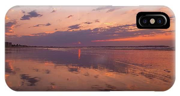 Orchard Beach iPhone Case - Old Orchard Beach Glorious Sunset by Betsy Knapp