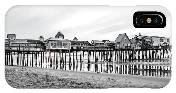 Orchard Beach iPhone Case - Old Orchard Beach Pier Classic Sunrise by Betsy Knapp