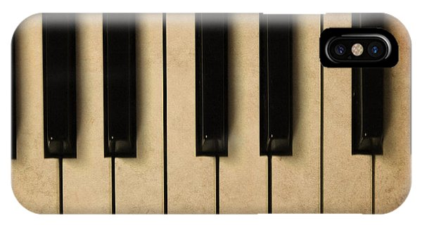 Old Piano Vintage Background Phone Case by Midiwaves