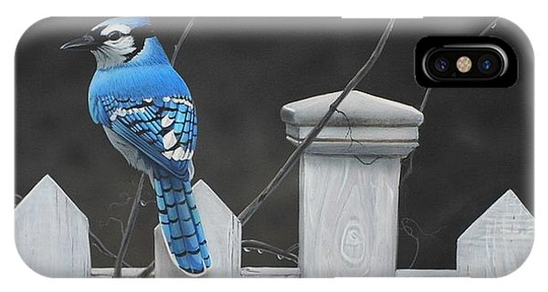 IPhone Case featuring the painting Old Picket Fence by Peter Mathios