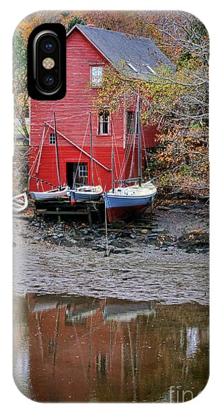 Moor iPhone Case - Old Red House In Maine by Olivier Le Queinec