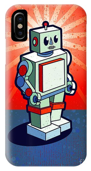 Space iPhone Case - Old School Robot by Artplay