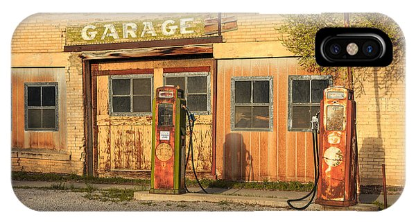 Old Building iPhone Case - Old Service Station In Rural Utah, Usa by Johnny Adolphson