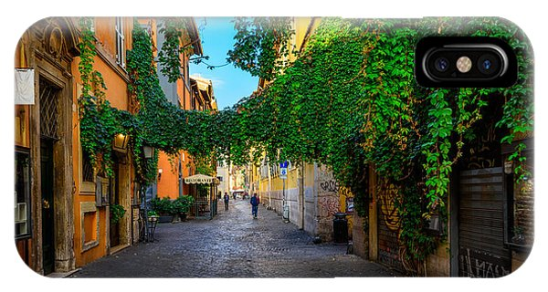 Small iPhone Case - Old Street At In Trastevere, Rome by Catarina Belova