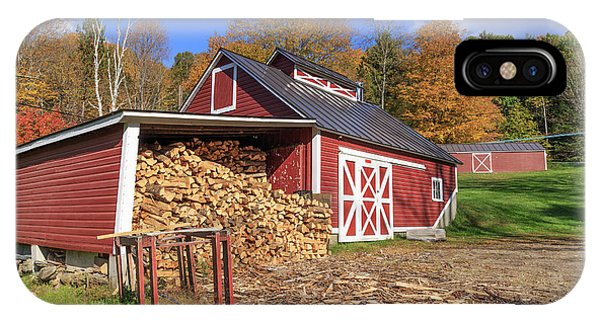 New England Barn iPhone Case - Old Sugar Shack Vermont by Edward Fielding