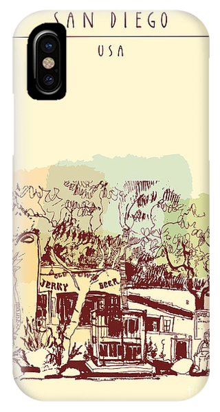 Culture iPhone Case - Old Town Historic Buildings In San by Babayuka