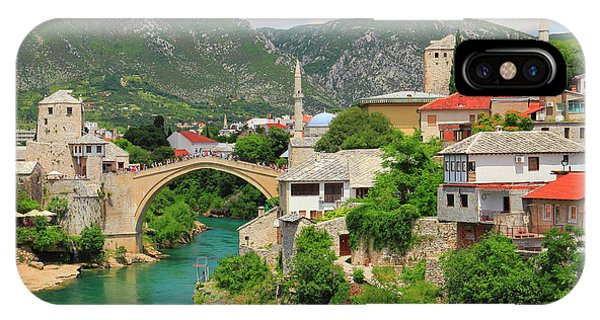 Mostar iPhone Case - Old Town Of Mostar Bosnia And Herzegovina by Ivan Pendjakov