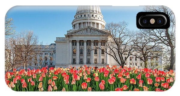 Capitol Building iPhone Case - On A Bed Of Tulips by Todd Klassy