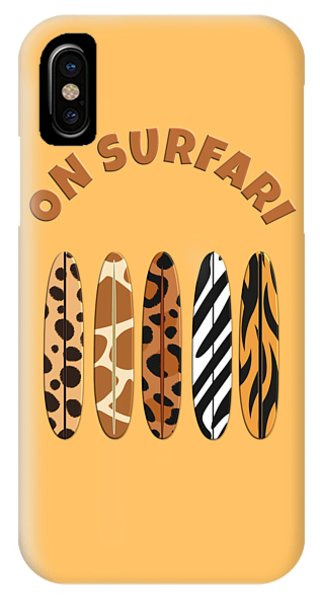 On Surfari Animal Print Surfboards  IPhone Case