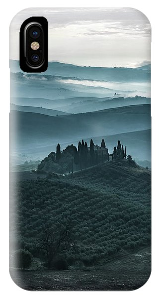 iPhone Case - One Cold Day In Tuscany by Jaroslaw Blaminsky